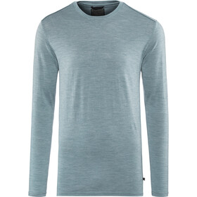 Alchemy Equipment 180GSM Single Jersey Merino Crew manga larga Hombre, smokey blue marle
